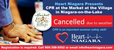 CPR at the Market at the Village Cancellation Notice