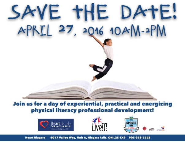 Save The Date Physical Literacy